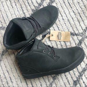 MOZO Finn Chukka Slip Resistant Leather Boot Black